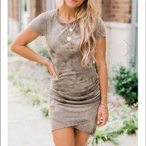 Mocha Wrap Dress